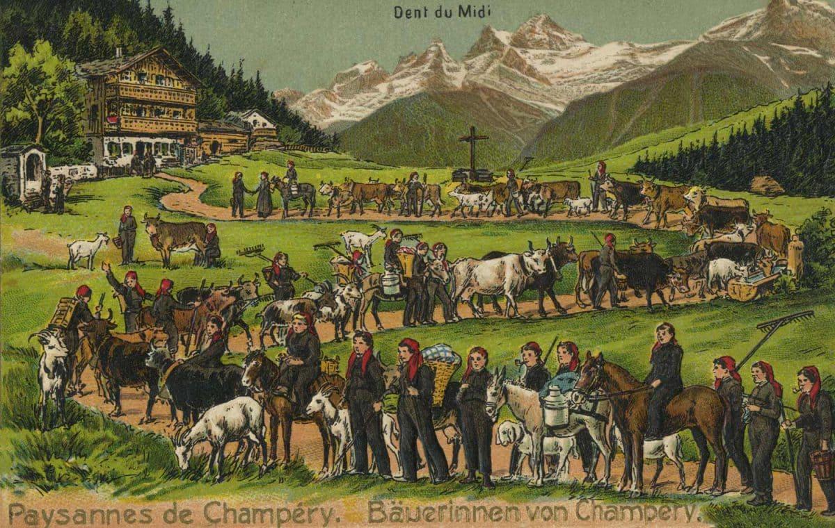 Paysannes de Champéry © Artist. Atelier H. Guggenheim Co. Zürich