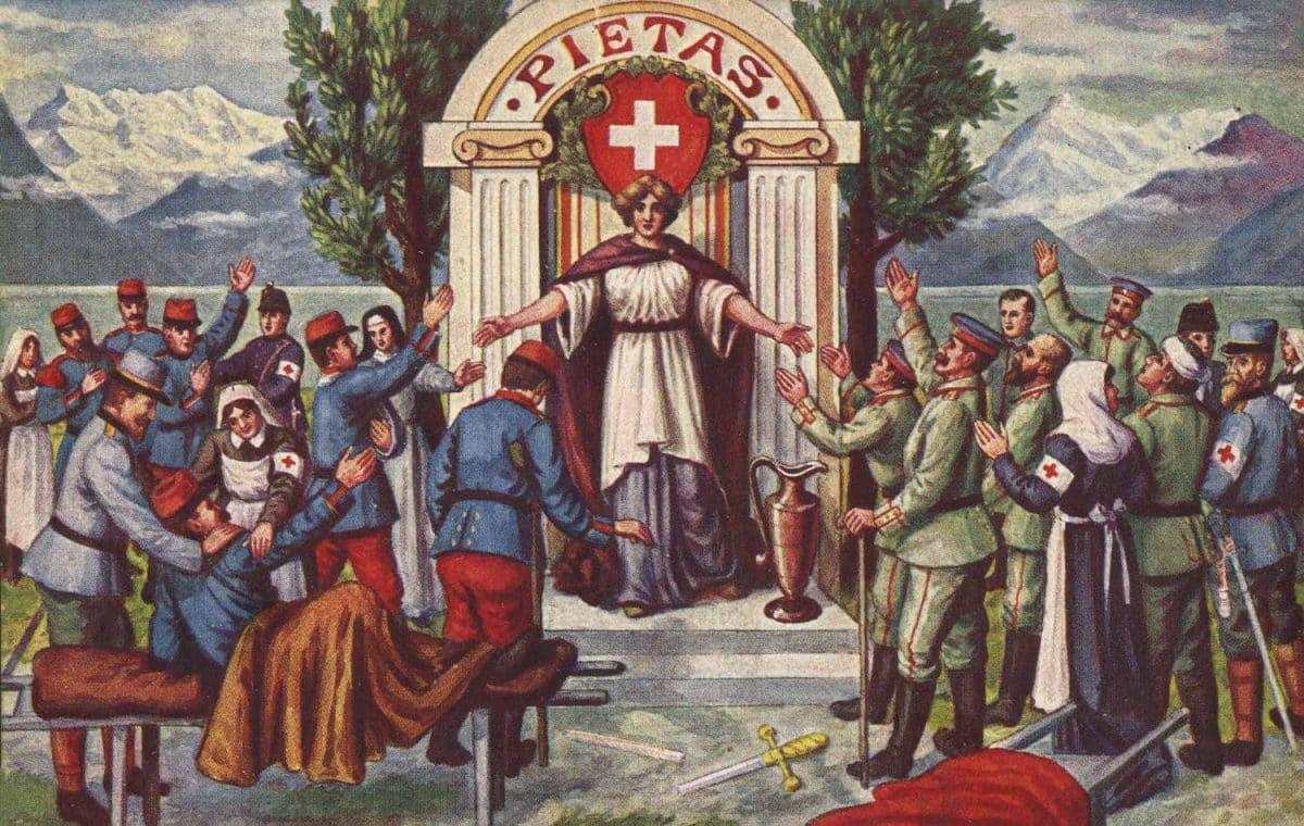 Pietas © K. Essig, Bâle, carte datée de 1916