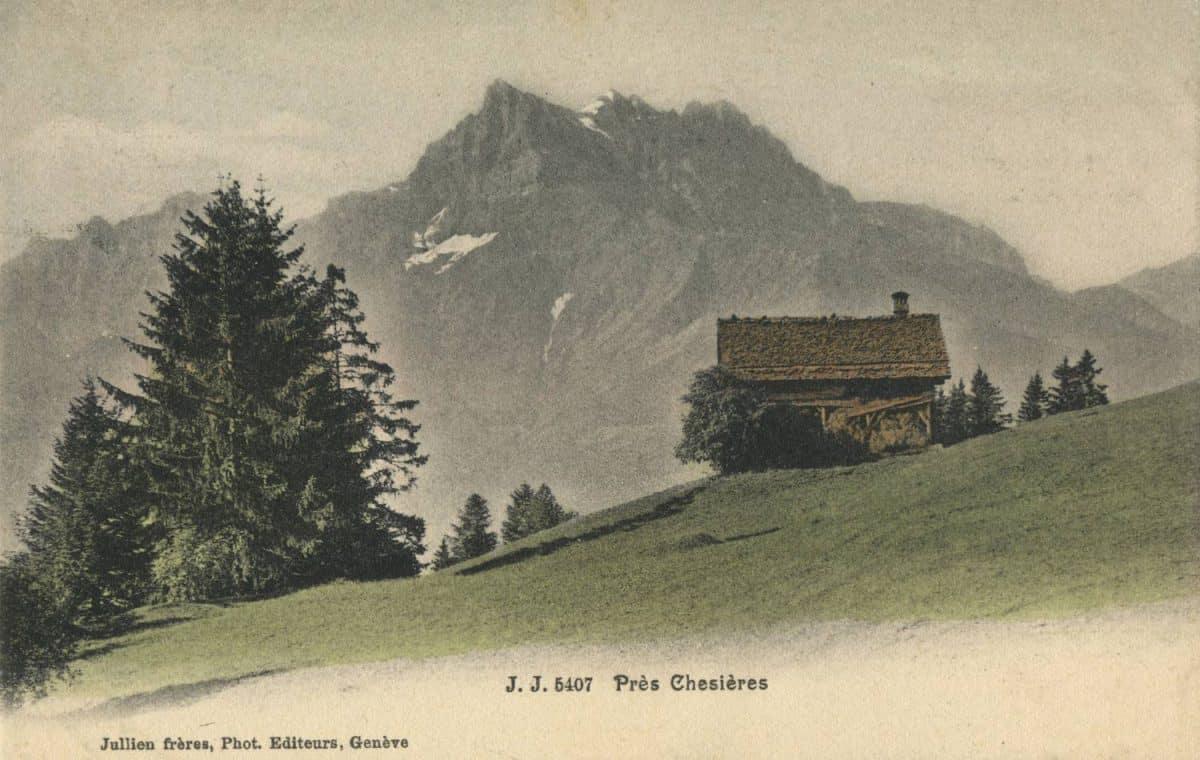 Près Chesières © Jullien frères, Phot. Editeurs, Genève