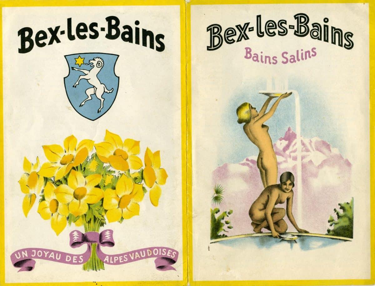 Dépliant publicitaire. Bex-les-Bains, un joyau des Alpes vaudoises