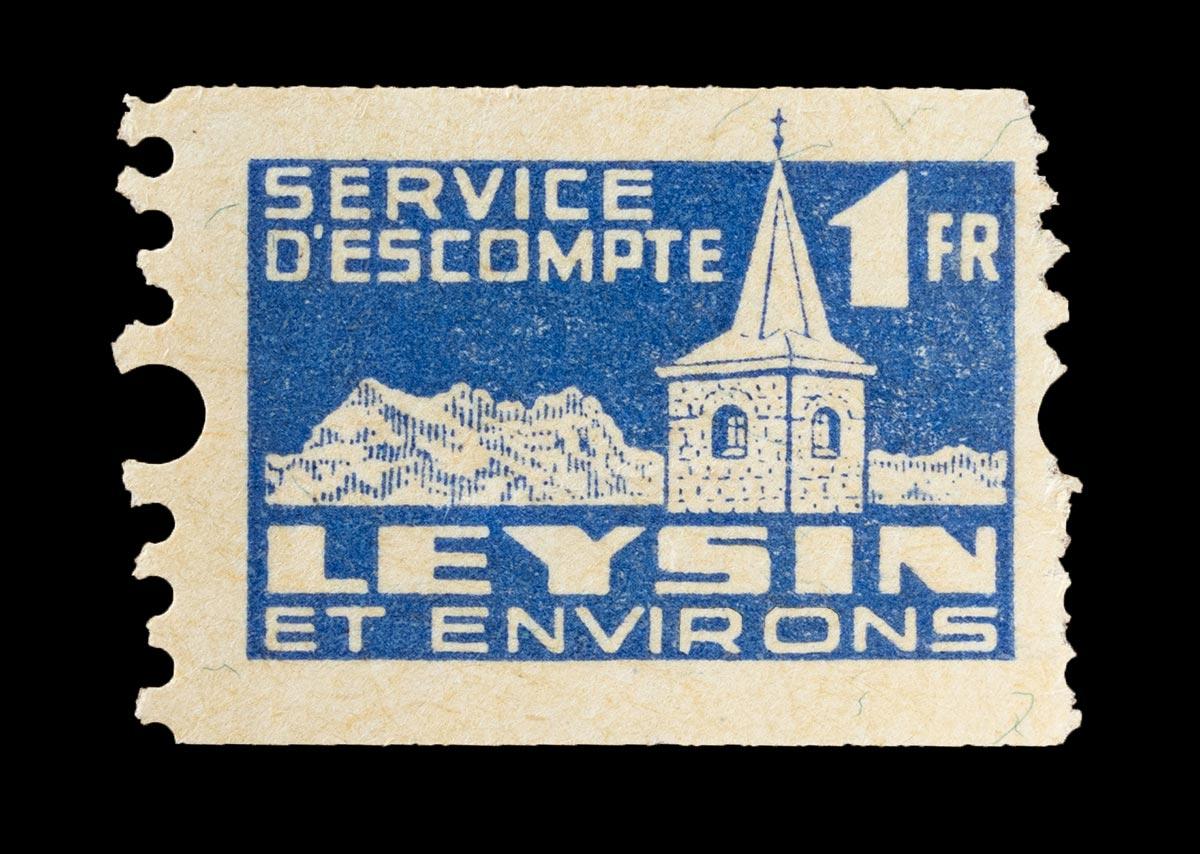 Timbre. Service d'escompte de Leysin et environs, Fr. 1