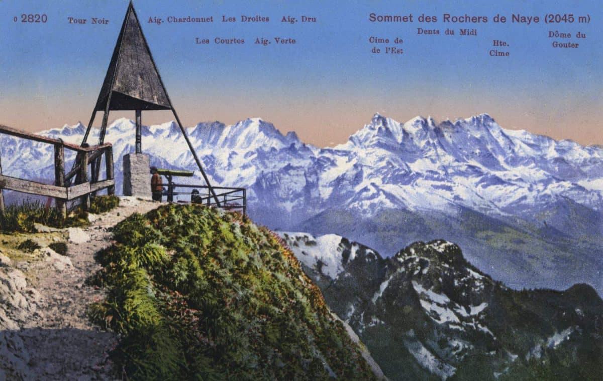 Sommet des Rochers de Naye (2045m) © Edition Photoglob, Zürich, carte datée de 1919, www.photoglob.com