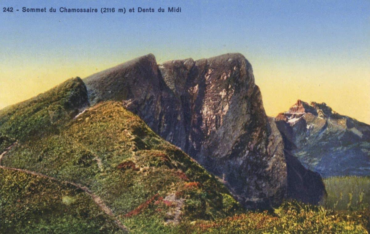 Sommet du Chamossaire (2116m) et Dents du Midi © Société Graphique Neuchâtel