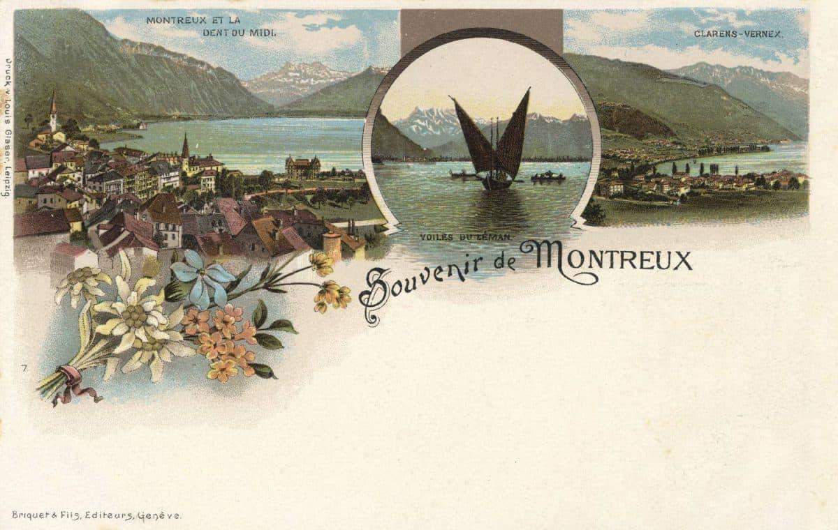 Souvenir de Montreux © Briquet & Fils, Editeurs, Genève