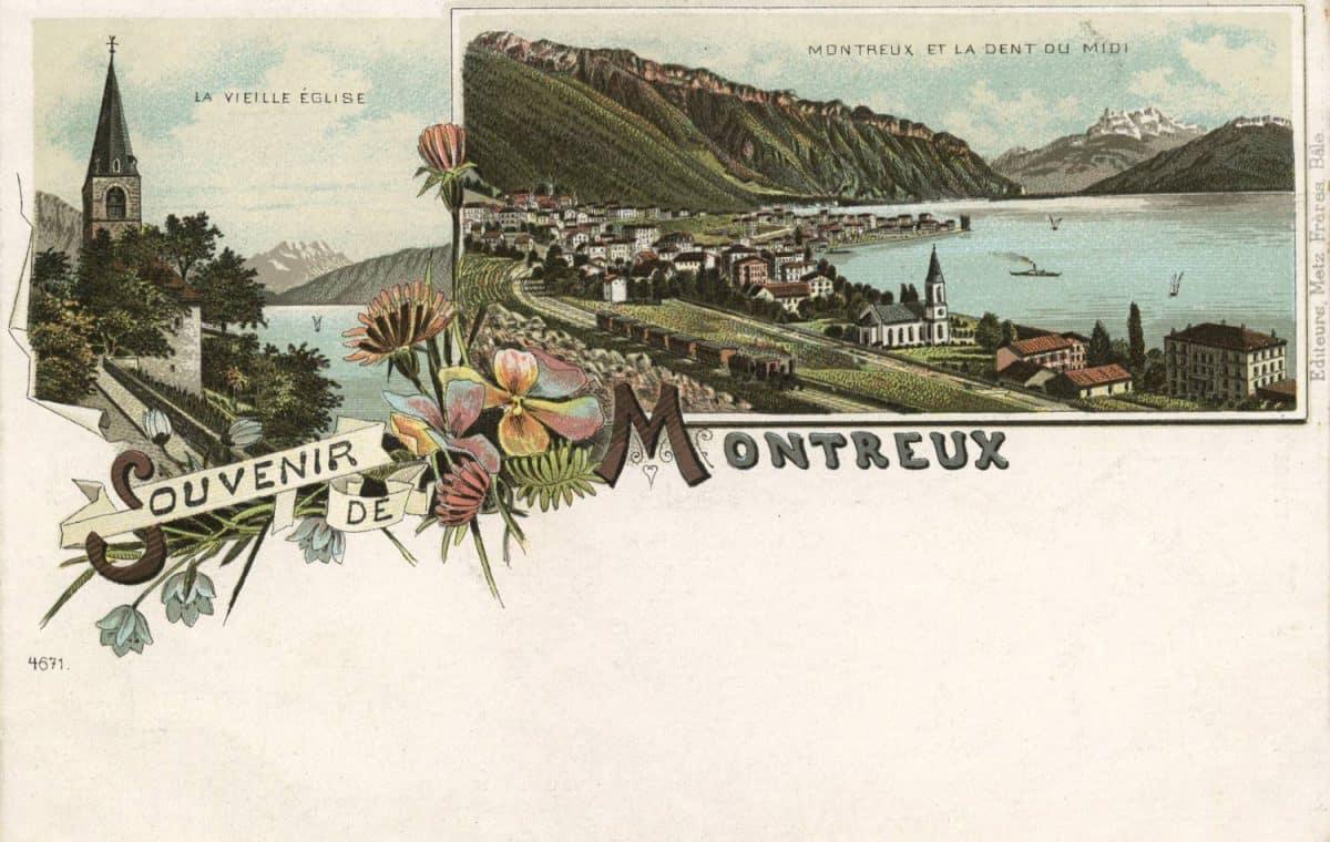 Carte postale, Souvenir de Montreux