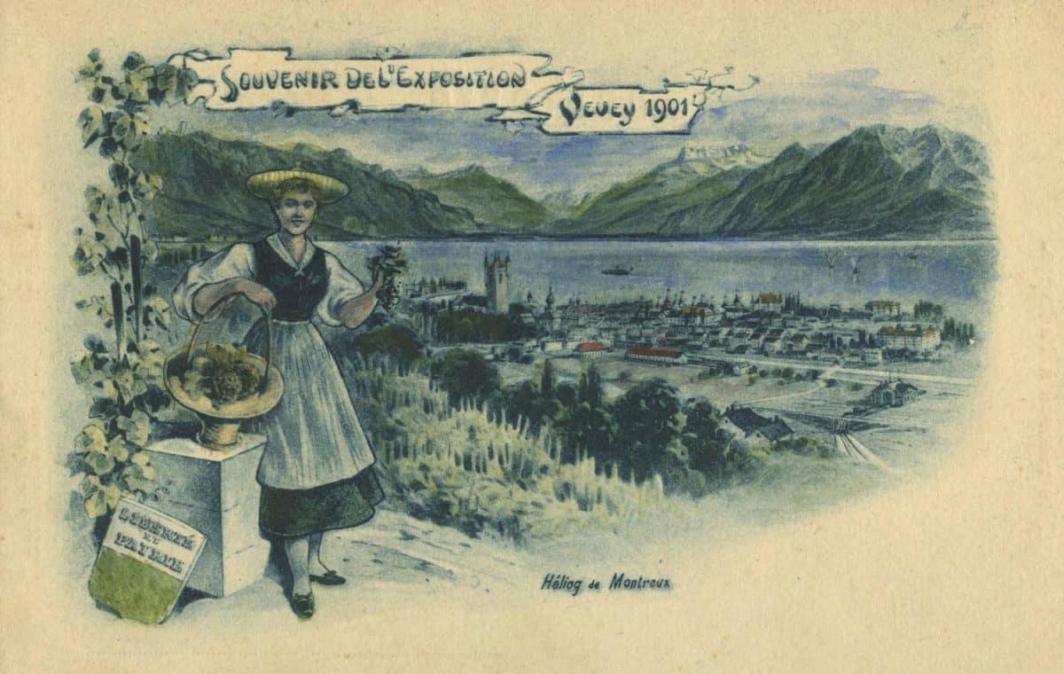 Souvenir de l'Exposition de Vevey, 1901 © Héliog de Montreux