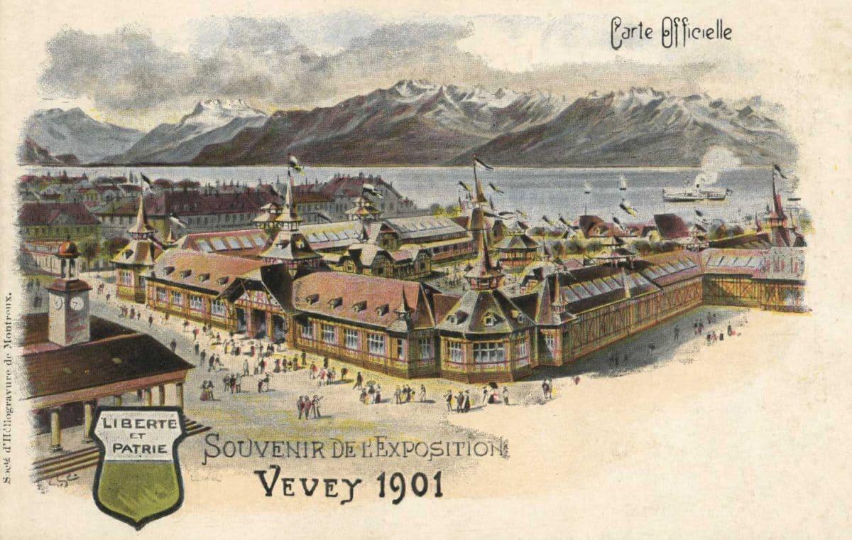 Souvenir de l'Exposition de Vevey 1901 © Société d'Héliogravure de Montreux