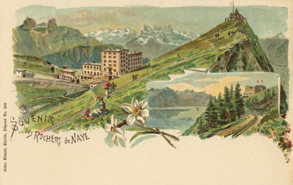 Souvenir des Rochers de Naye © Gebr. Künzli, Zürich