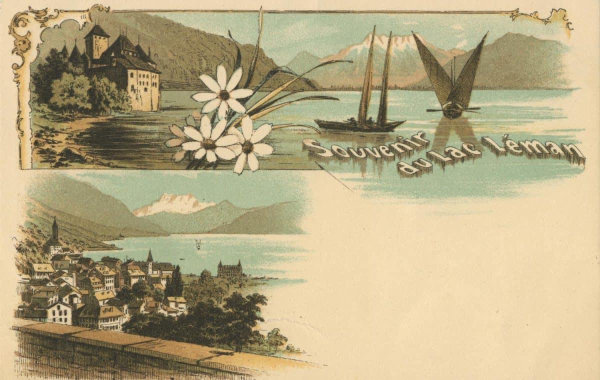 Souvenir du Lac Léman © Atelier Artistique H. Guggenheim & Co., Editeurs, Zürich