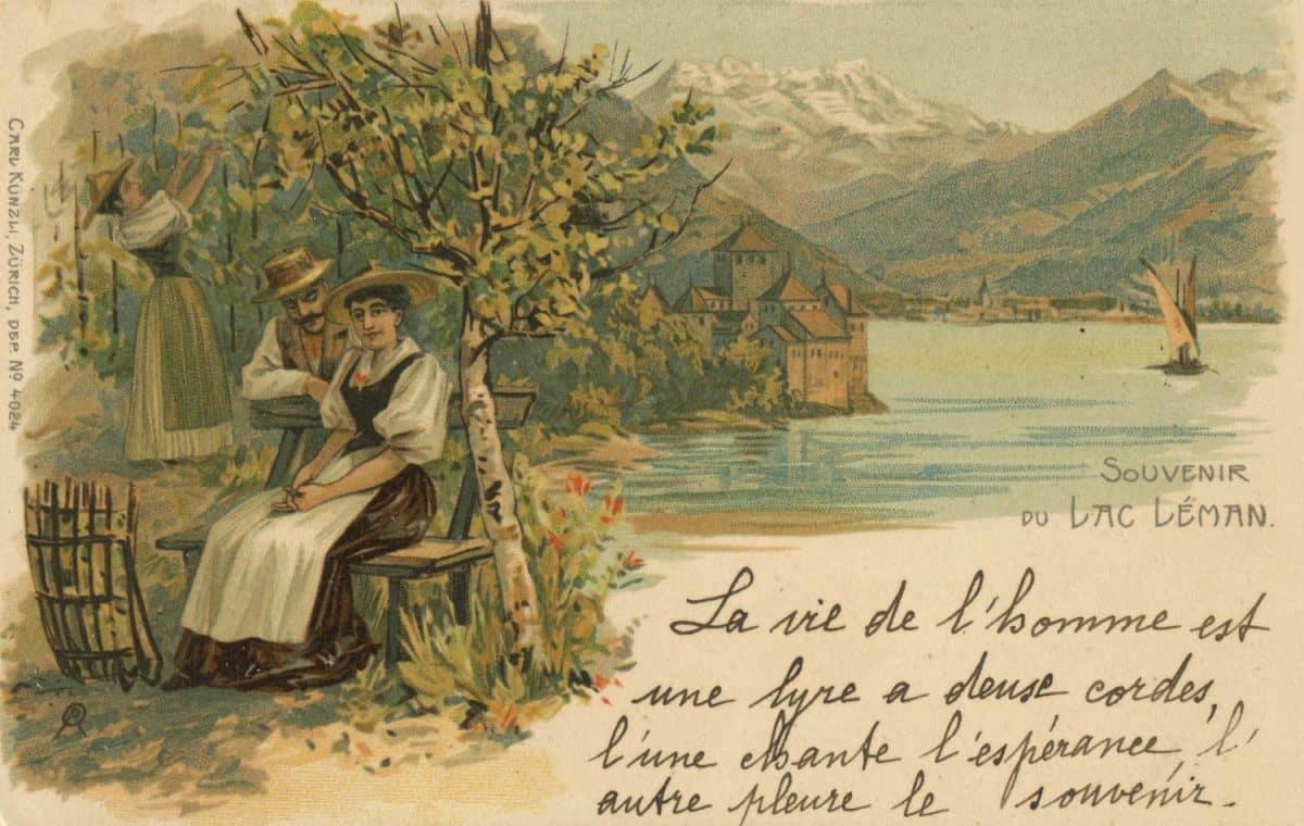 Souvenir du Lac Léman © Carl Künzli, Zürich