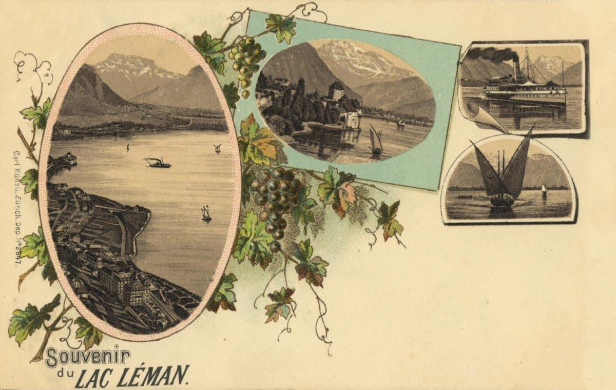Carte postale, Souvenir du Lac Léman