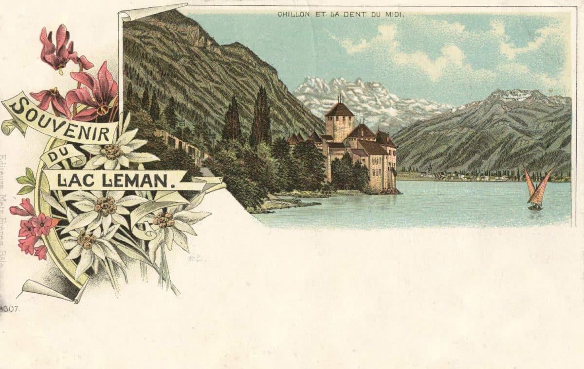 Souvenir du Lac Léman, Chillon et la Dent du Midi