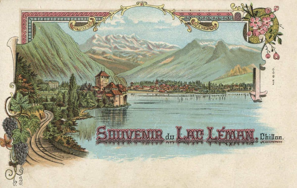 Souvenir du Lac Léman. Chillon