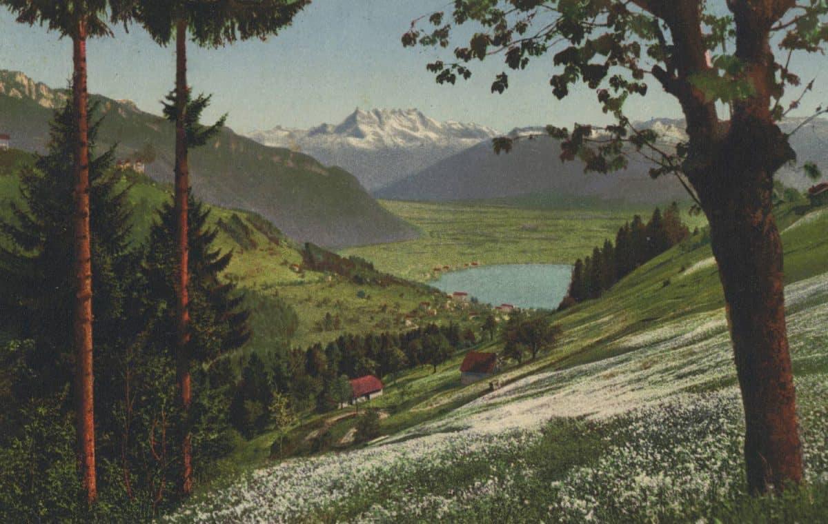 Sur Montreux et Dents du Midi © Phot. A. Kern, Editions Star, Lausanne