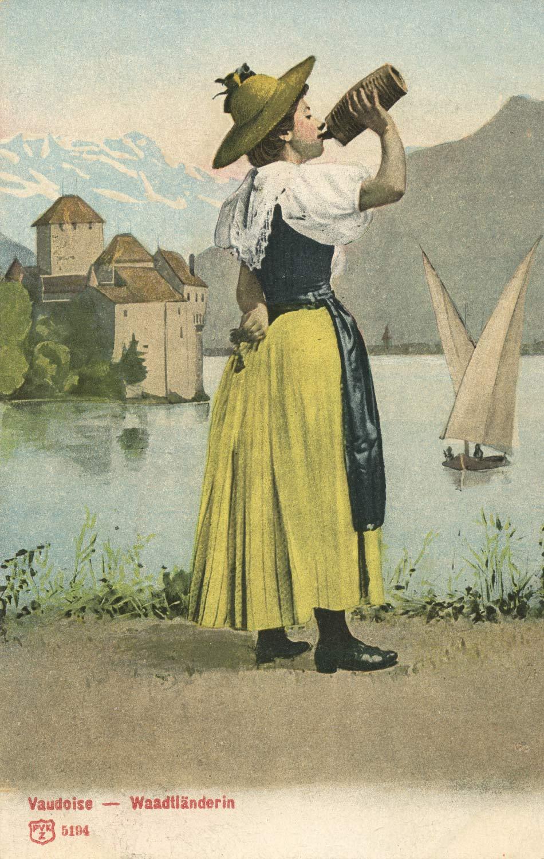 Vaudoise, Waadtländerin, carte datée de 1904