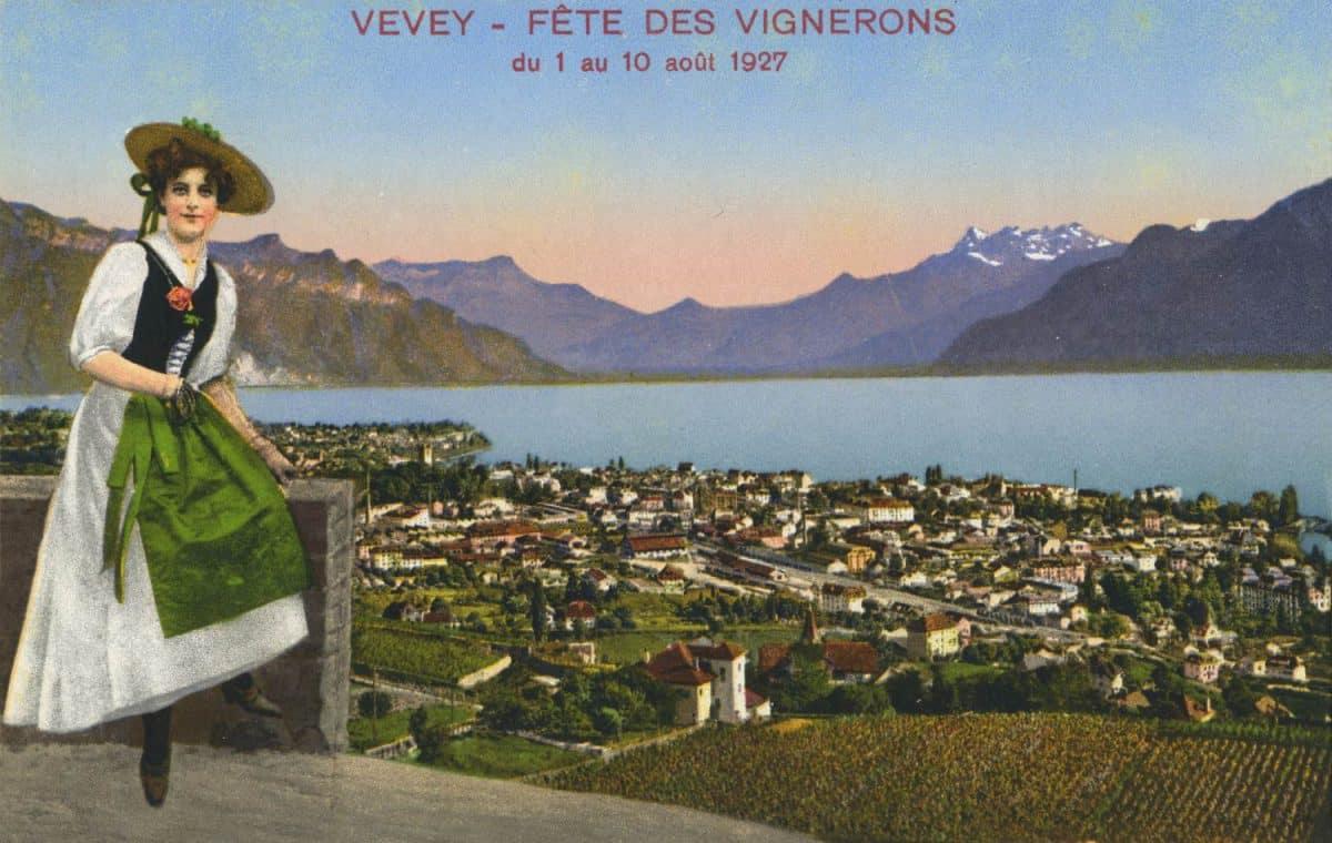 Vevey - Fête des Vignerons du 1 au 10 août 1927 © phototypie Co., Montreux
