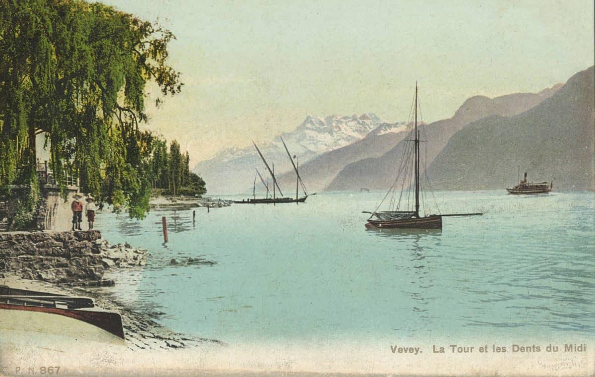 Vevey. La Tour et les Dents du Midi © C.P.N.