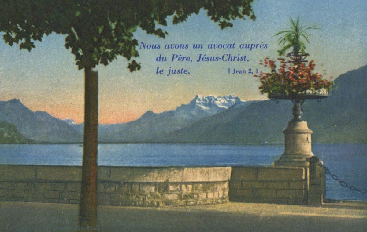 Vevey. Le quai et les Dents du Midi © Phot. Editeur O. Sartori, Lausanne