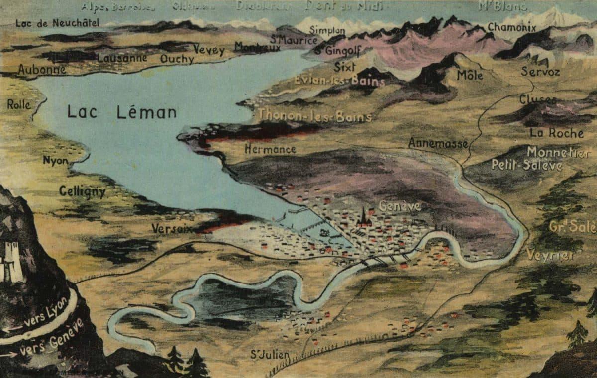 Vue générale du Lac Léman