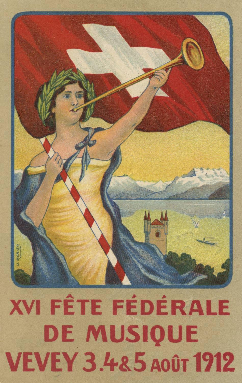 XVI Fête Fédérale de Musique de Vevey, 3, 4, 5 août 1912