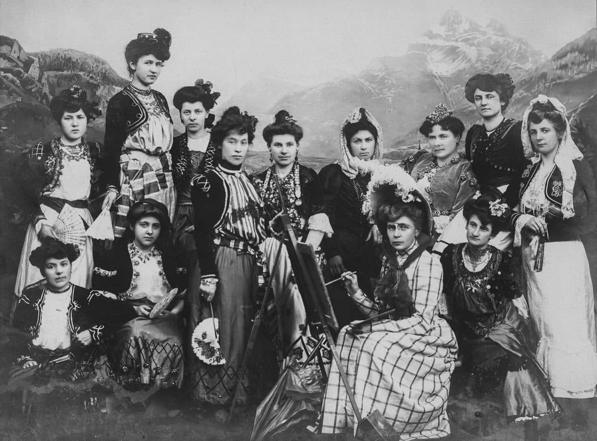 Photographie. Choeur des Dames de Bex en 1906