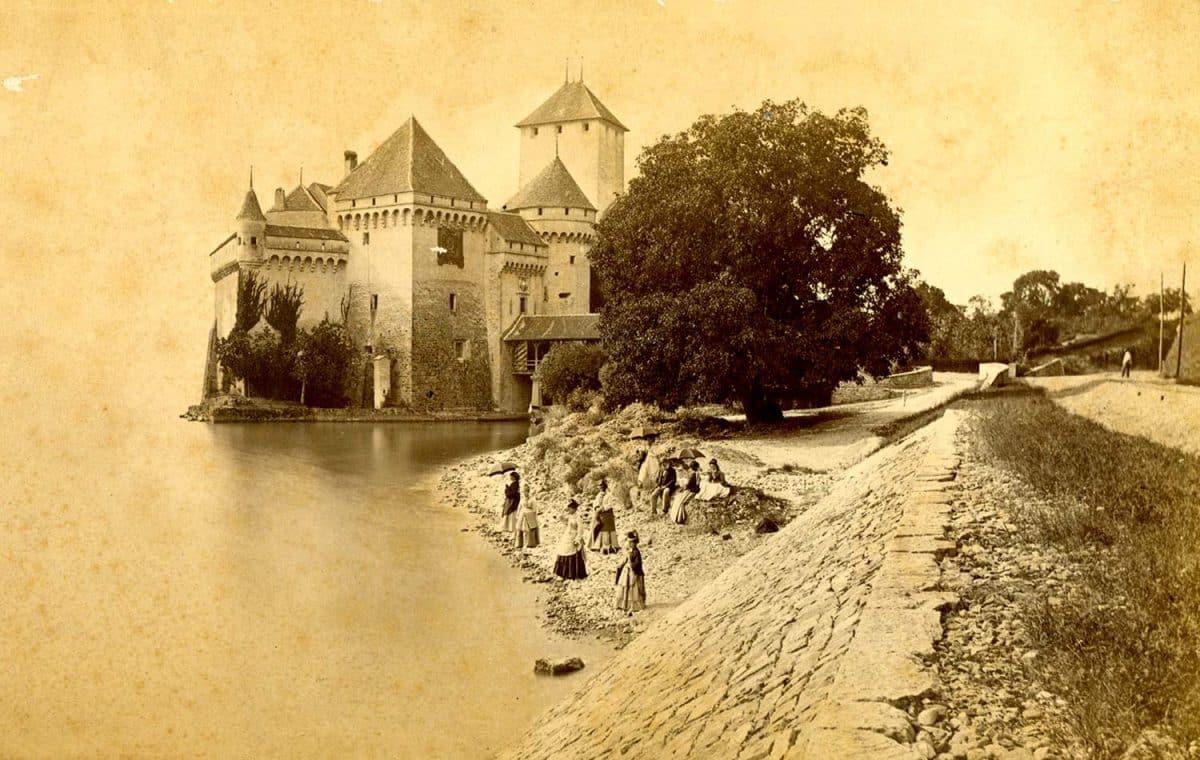 Château de Chillon. Impression sur gélatine argentique. Vers 1860