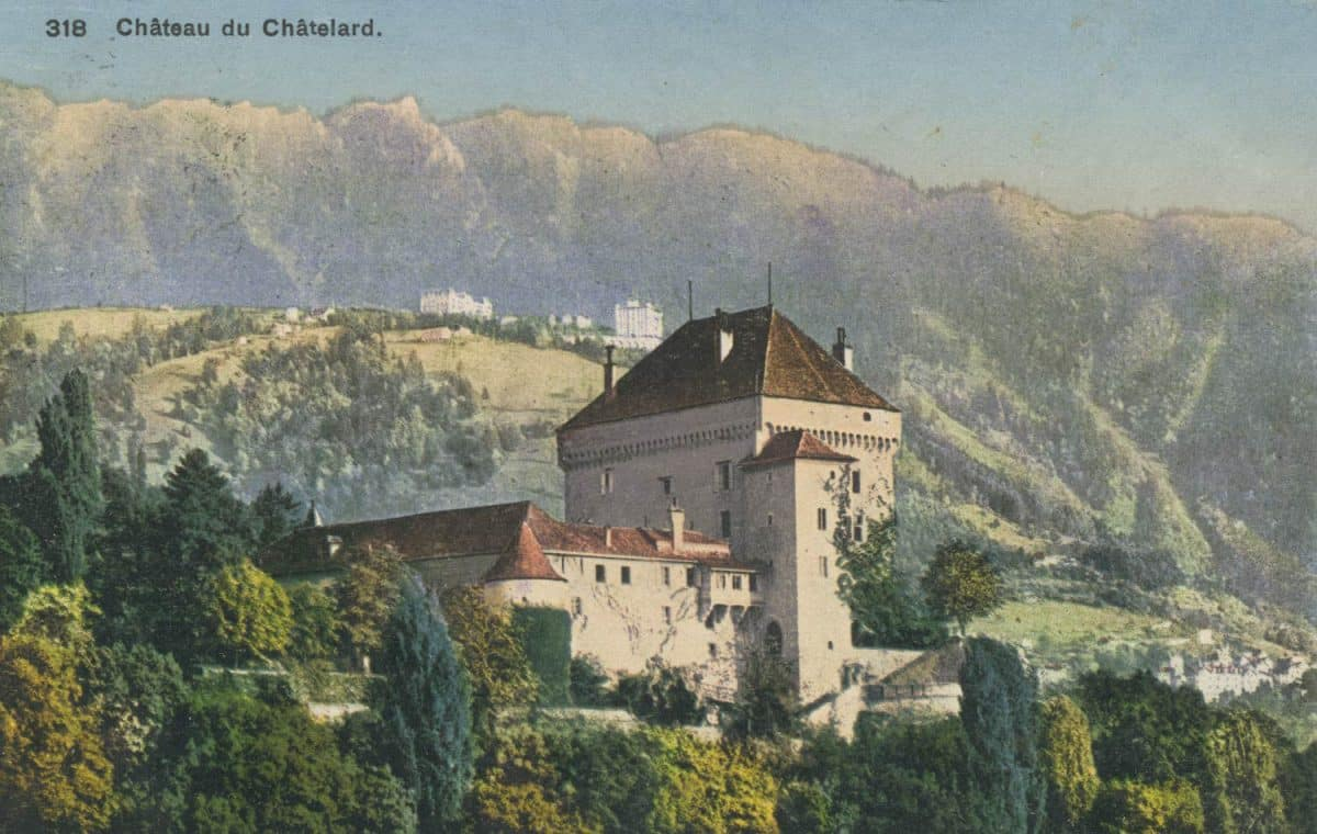 Carte postale. Château du Châtelard