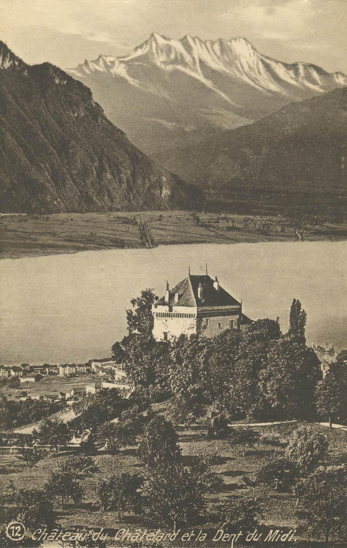 Château du Châtelard et la Dent du Midi, © Edition phot. Franco-Suisse, Berne