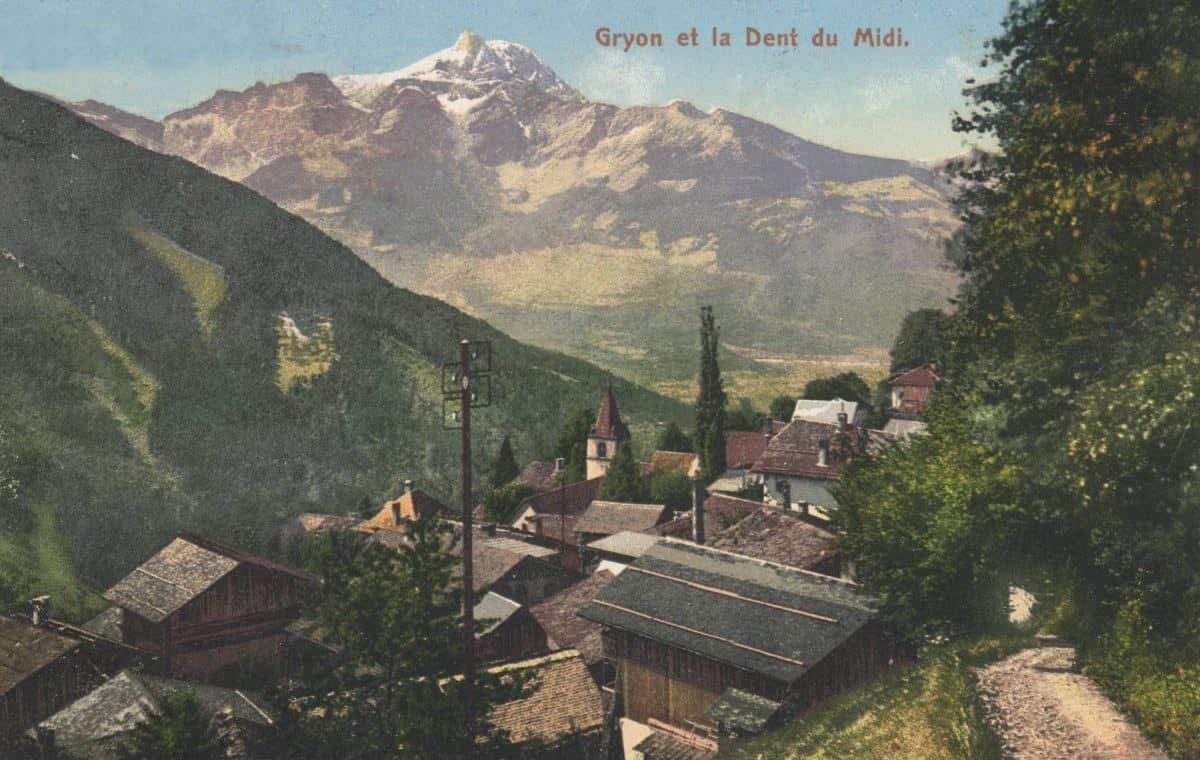 Carte postale. Gryon et la Dent du Midi