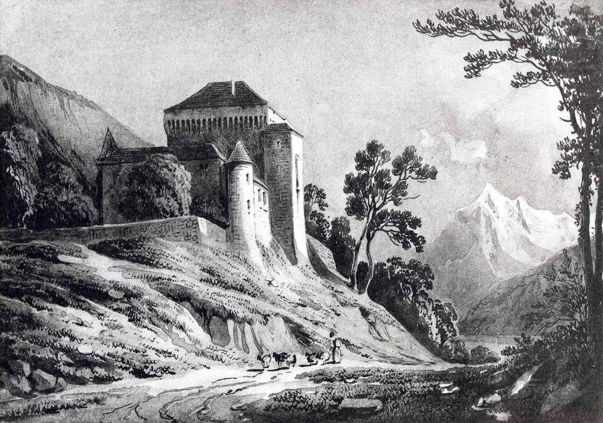 Le Châtelard. Album de la Suisse Romande Gravure par C. Guigon, Imp. Ch. Gruaz à Genève, date inconnue