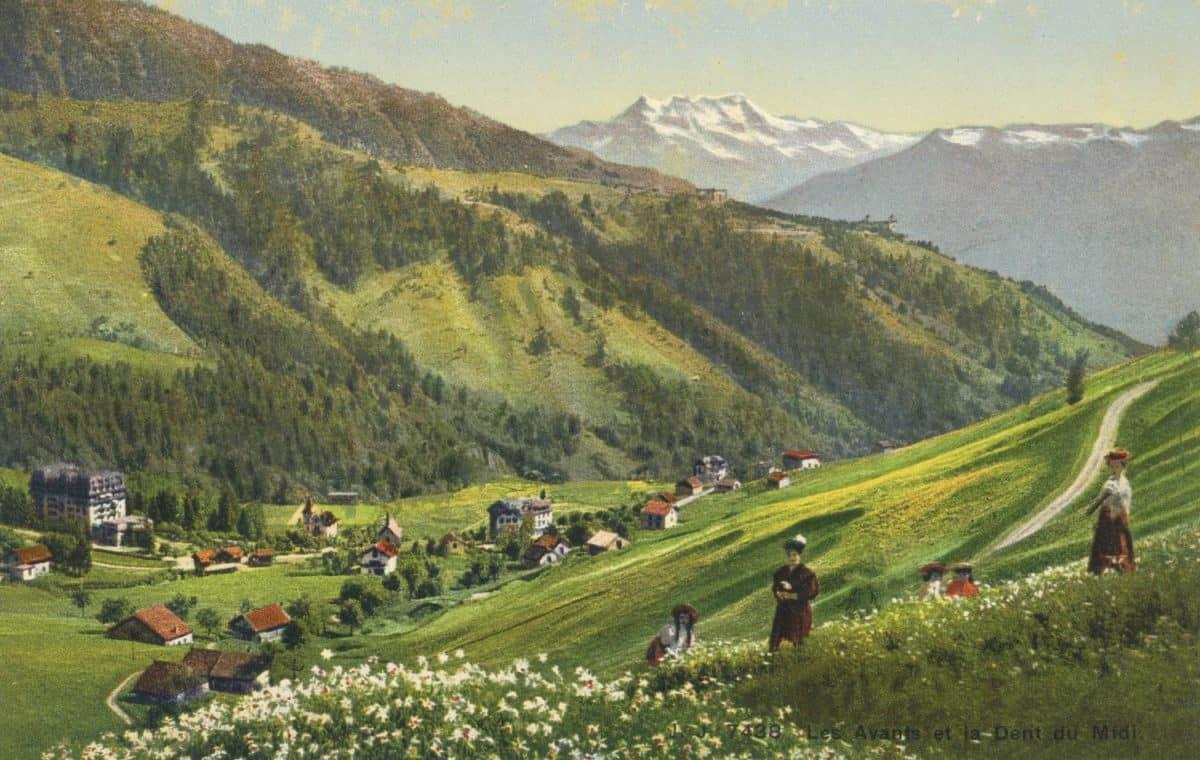Carte postale, Les Avants et la Dent du Midi