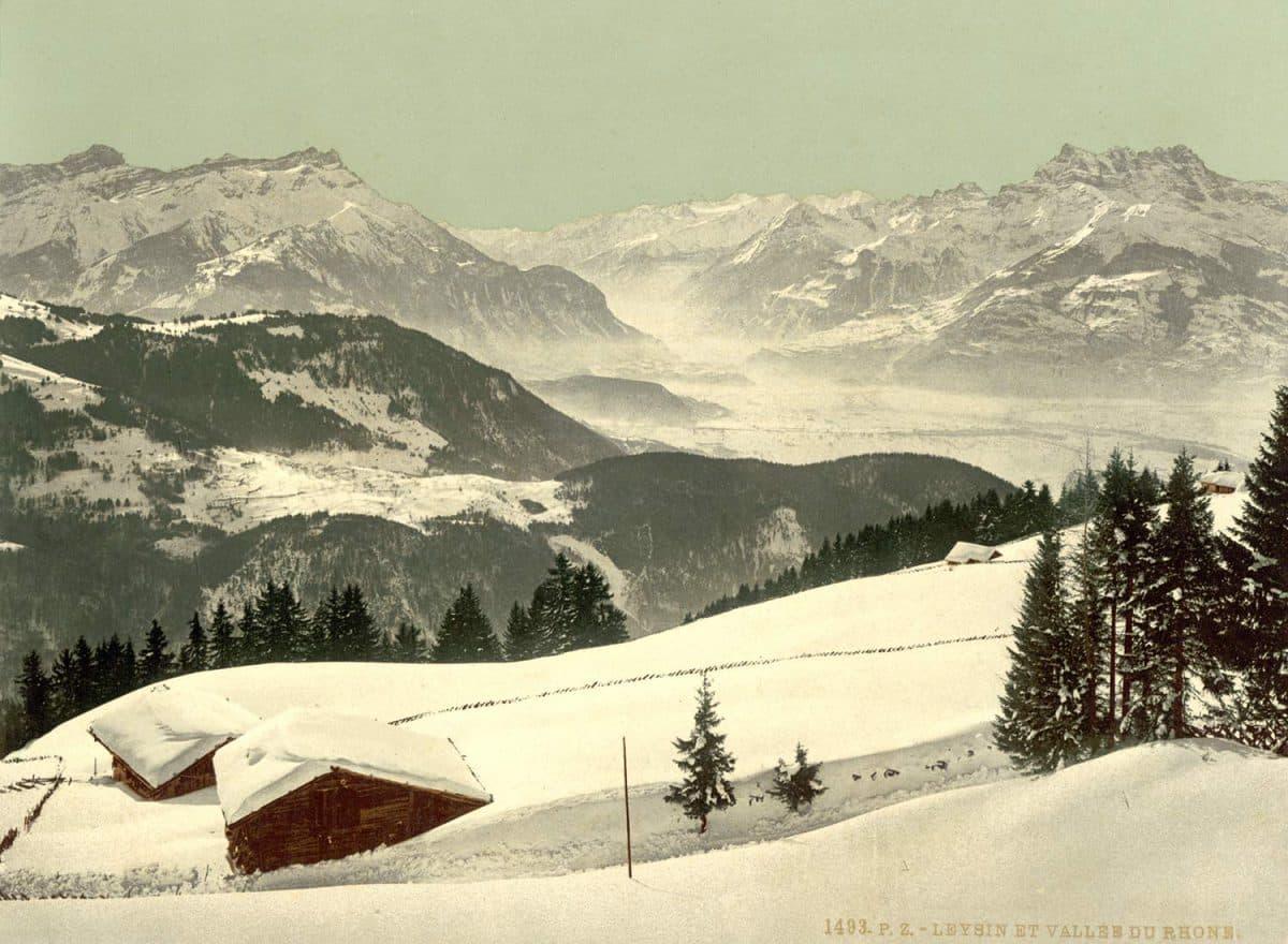 Photochrome. Leysin et vallée du Rhône, 1890 - 1900