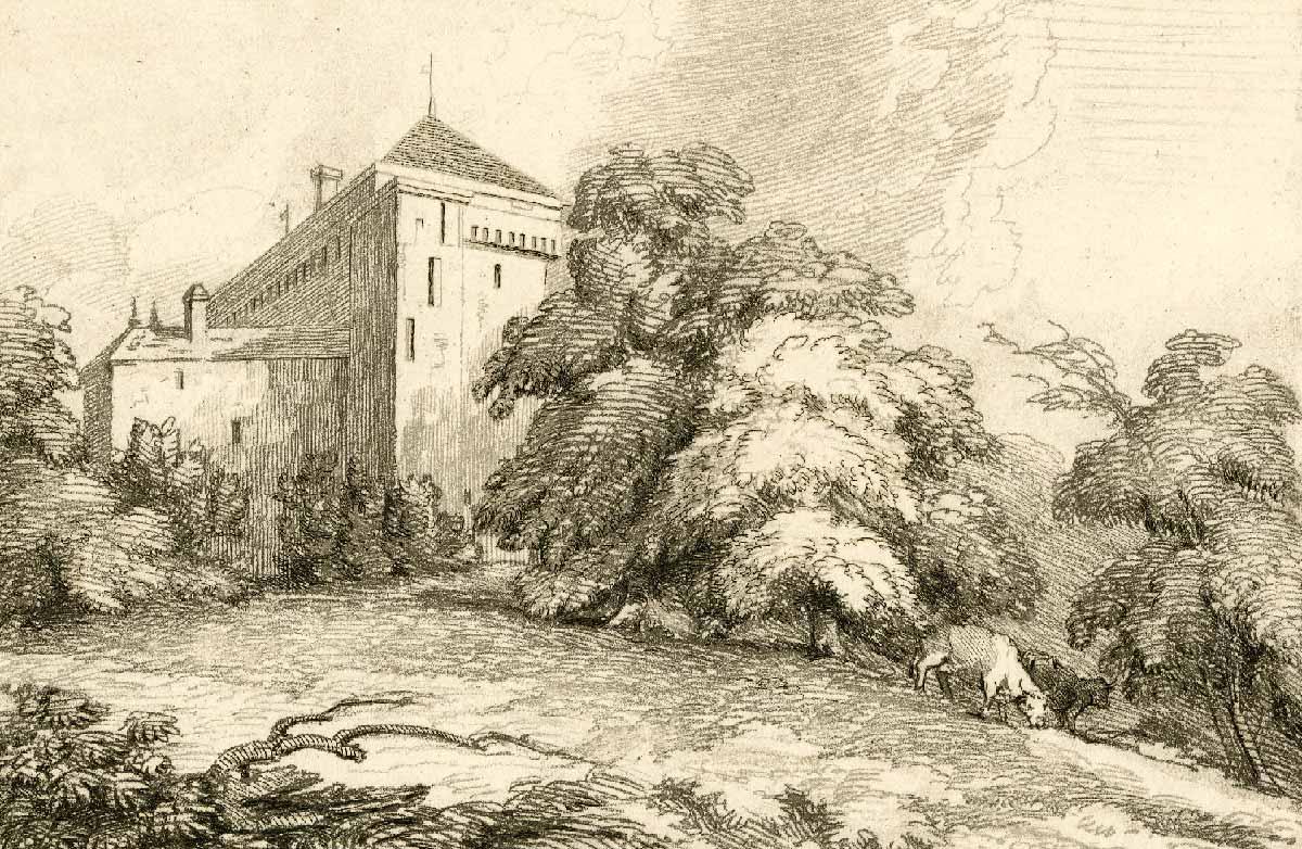 Gravure. Château de Clarens sur le lac de Genève, 1810 - 1840. Imprimé par Mary Turner