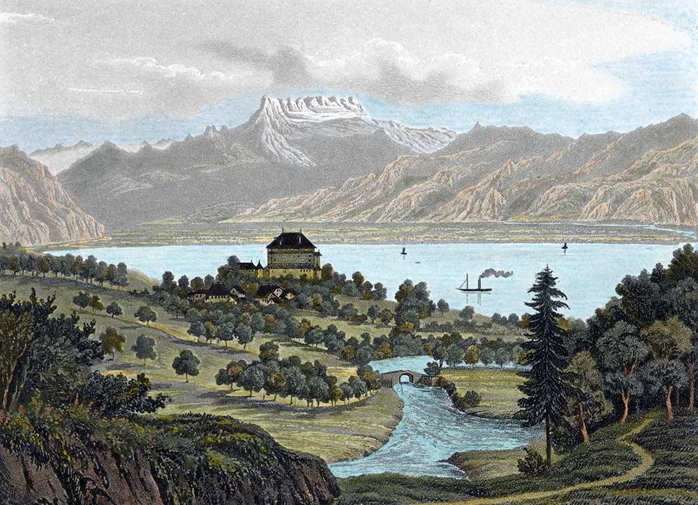 Chatelard, vers 1860. Chez F. Mack à Vevey, éditeur