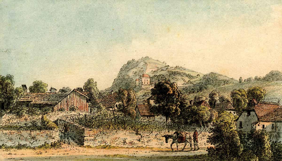 Gravure. Clarens 1786 - 1818. Imprimé par Heinrich Rieter