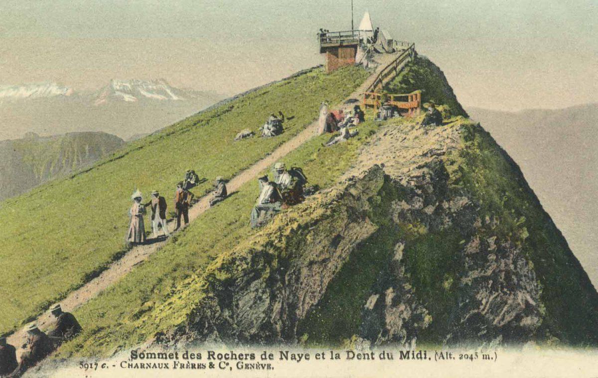 Sommet des Rochers de Naye et la Dent du Midi. (Alt. 2043m.) © Charnaux Frères & Co, Genève