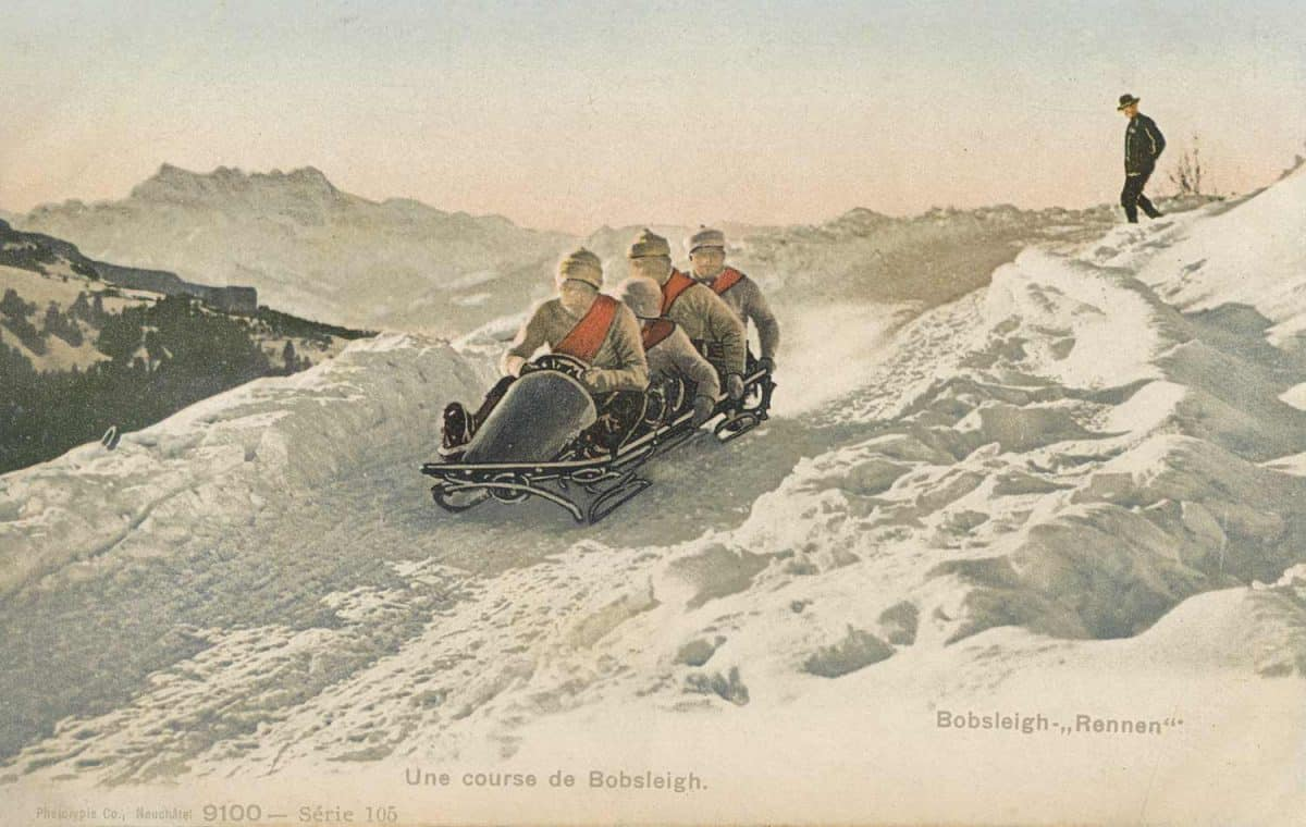 Une course de Bobsleigh © Phototypie Co. Neuchâtel