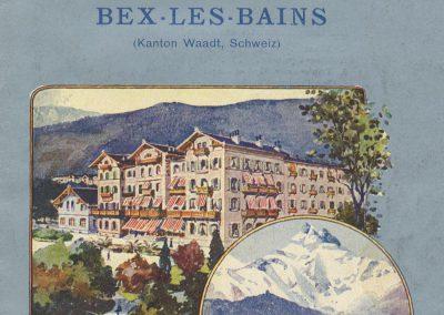 Dépliant publicitaire. Das Grand Hôtel des Salines und seine Badeanstalt in Bex-Les-Bains