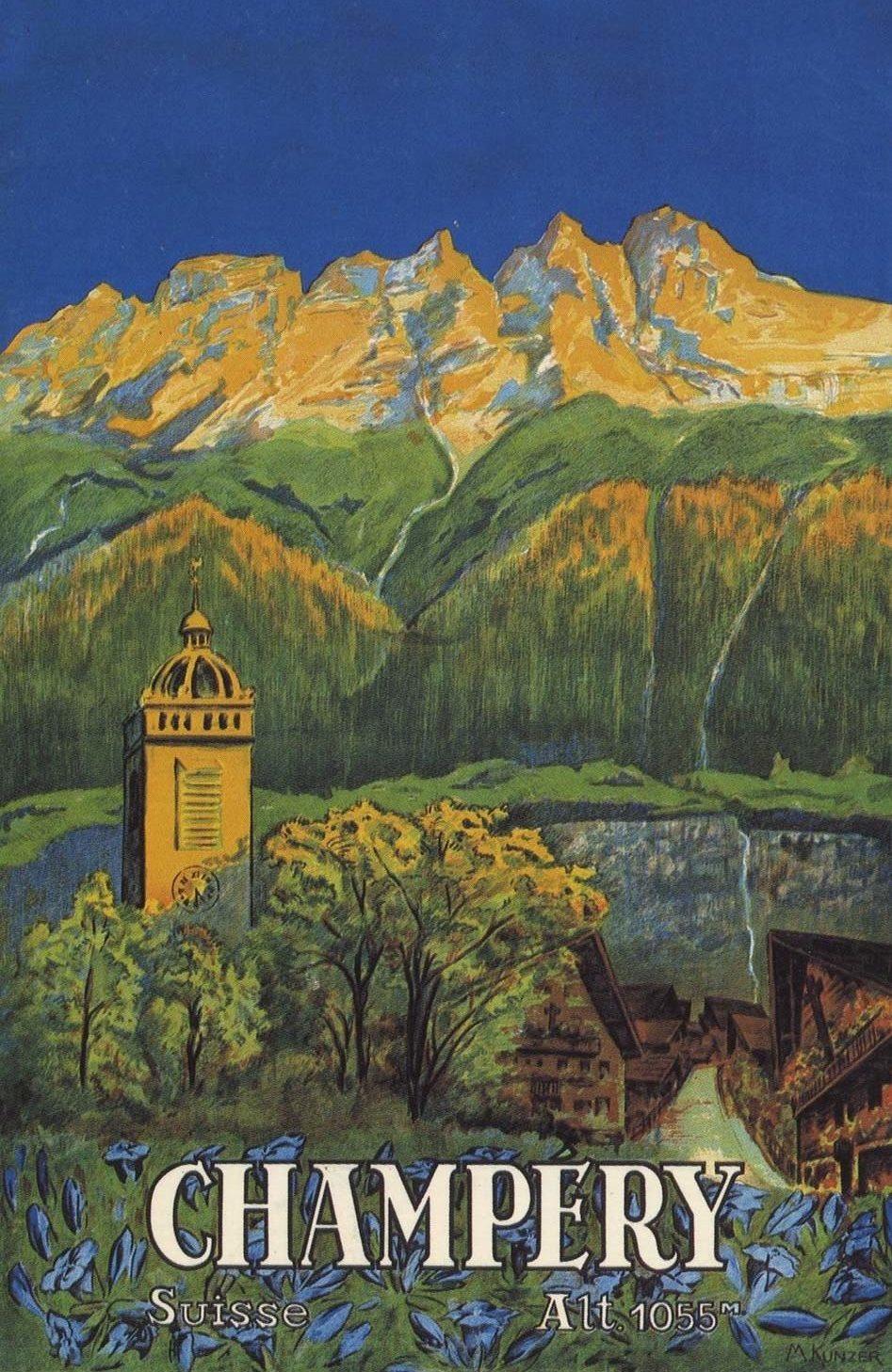 Affiche pour l'Office du Tourisme de Champéry, 1925. © Plakatsammlung Kunstgewerbemuseum Zürich