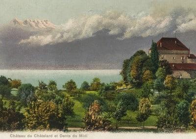Château du Châtelard et Dents du Midi, © Phototypie Co., Neuchâtel