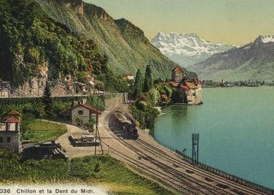 Chillon et la Dent du Midi, © Jullien frères Phot.-éditeurs, Genève, carte datée de 1931