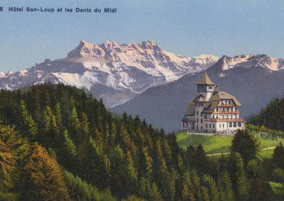 Hôtel de Sonloup au-dessus des Avants. © Phototypie Co. Neuchâtel