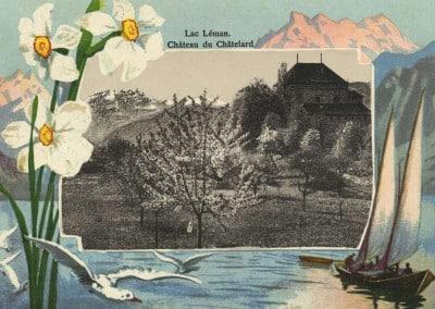 Lac Léman, Château du Châtelard, carte datée de 1951
