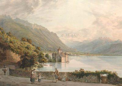 Le château de Chillon en Alant de Vevey à Villeneuve