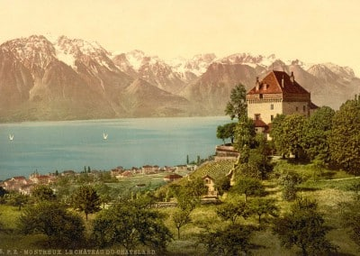 Montreux, le château du Châtelard, 1890 - 1900, © Photoglob Zürich, www.photoglob.com