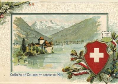 Château de Chillon et la Dent du Midi