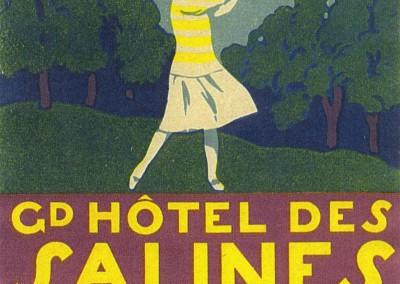 Etiquette de bagage du Grand Hôtel des Salines et du Golf à Bex-les-Bains