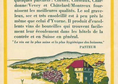 Consommez du vin vaudois, carte datée de 1933