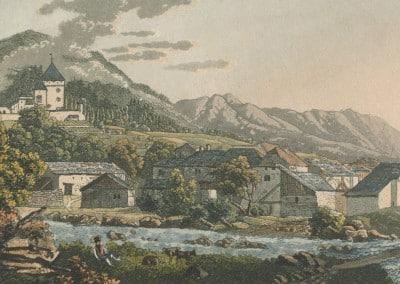 Le Hameau de Tavel, au pays de Vaud. © Archives de Montreux ; fonds iconographique (cote AM 0132)