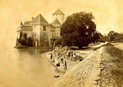Château de Chillon. Impression sur gélatine argentique. Date inconnue